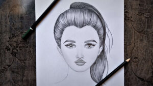 Girl Face Drawing