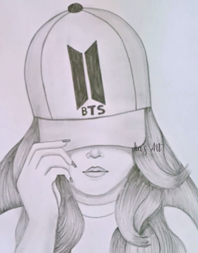 Hat Girl Drawing 4