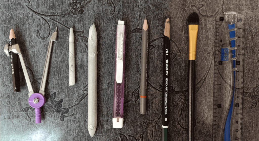pencil drawing stationery