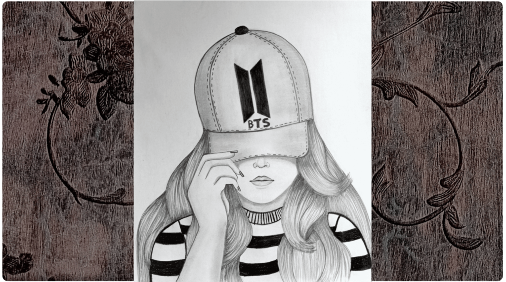 girl drawing hat