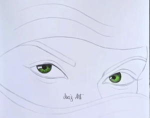 eye drawing step 2