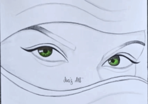 eye drawing step 3
