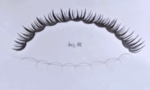 eyelashes drawing step 2