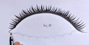 eyelashes drawing step 3
